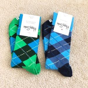 Happy Socks - Bundle of 2 Argyle Socks